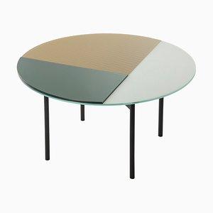Gin Tisch 2901GO in Dunkelgrün, Gold & Weiß von Sebastian Herkner für Pulpo