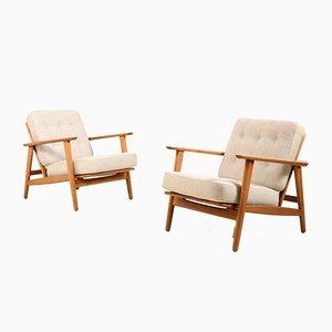 Dänische Mid-Century Cigarren Lounge Stühle, 1960er, 2er Set