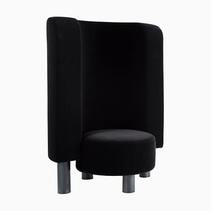 Kaboom Lounge Chair 9202BFF in Black by Hermann August Weizenegger for Pulpo