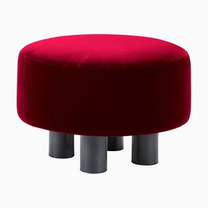 Oooh Ottoman 9204R in Red by Hermann August Weizenegger for Pulpo