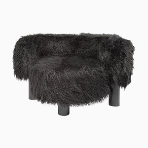 Pow Chair 9200BFF in Black Faux Fur by Hermann August Weizenegger for Pulpo