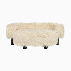 Pow Sofa 9203CRFF in Cream-Colored Imitation Fur by Hermann August Weizenegger for Pulpo