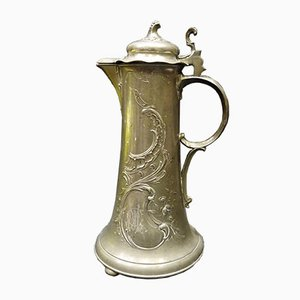 Deutsche Jugendstil Vase von Kayserzinn