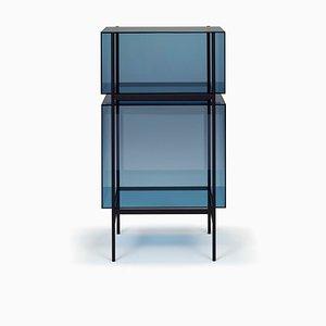 Petite Étagère Lyn 8400BL Bleue par Visser & Meijwaard pour Pulpo