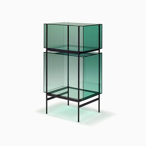 Kleines Lyn Regal 8400GR in Grün von Visser & Meijwaard für Pulpo