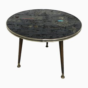 Vintage Coffee Table with Japanese Drawing, 1960s