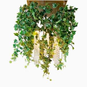 Flower Power Kronleuchter aus Muranoglas und künstlichem Efeu von Vgnewtrend