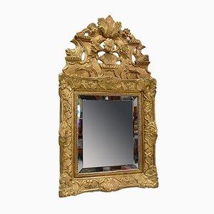 Kleiner Regency Spiegel mit Vergoldetem Holzrahmen, 19. Jh