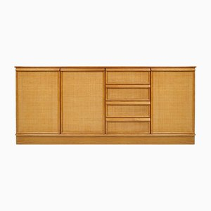 Dutch Rattan and Wood Sideboard from Rohé, 1960s