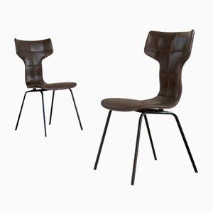 Französische Pelican Chairs von Joseph-André Motte für Groupe 4, 1950er, 6er Set