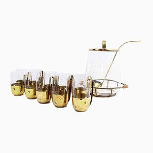 Brass and Glass Orangeade Set, 1960s