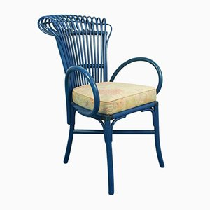 Blaue Vintage Sessel, 1970er, 4er Set