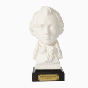 Porcelain Bust of Wolfgang Amadeus Mozart by Gerhard Bochmann for Goebel, 1970s