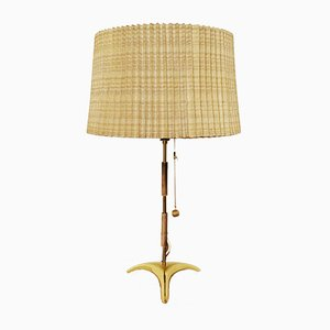Tripod Brass Table Lamp, 1950s