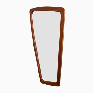Scandinavian Freeform Teak Mirror, 1960s