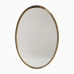 Goldener Messing Spiegel, 1950er