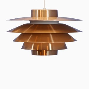 Danish Copper Verona Pendant Lamp by Svend Middelboe for Nordisk Solar, 1970s