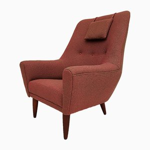 Danish Teak and Kvadrat Wool Armchair, 1970s