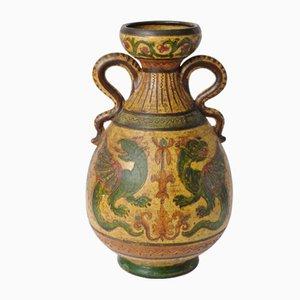 Italienische Vase aus Terrakotta von Dante Milani Montopoli, 1930er