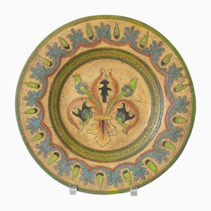 Italian Decorative Plate from Dante Milani Montopoli, 1930s