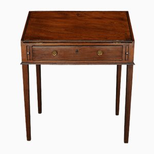 George III Mahogany Clerks Desk with Fitted Interior, 1800s
