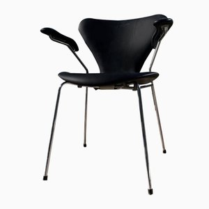 Chaise d'Appoint Modèle 3207 Mid-Century par Arne Jacobsen pour Fritz Hansen