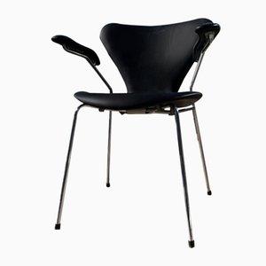 Mid-Century Modell 3207 Stuhl von Arne Jacobsen für Fritz Hansen