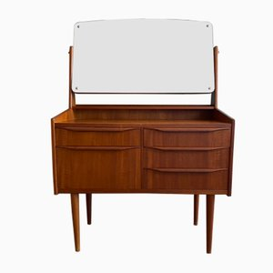 Scandinavian Teak Dressing Table with Swivel Mirror, 1960s