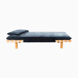 Pallet Daybed 4400G-ON in Dark Grey Velvet and Natural Wood by Sebastian Herkner for Pulpo