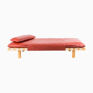 Pallet Daybed 4400LT-ON in Terracotta Leather and Natural Wood Frame by Sebastian Herkner for Pulpo
