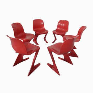 Kangaroo Chairs by Ernst Moeckl & Siegfried Mehl for VEB, 1960s, Set of 6