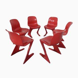 Kangaroo Stühle von Ernst Moeckl & Siegfried Mehl für VEB, 1960er, 6er Set