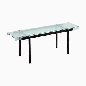 Passerelle 100 Shelf 9600S-01 in Glass and Black Steel by Sebastian Herkner for Pulpo
