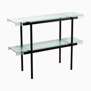 Passerelle 100 Shelf 9600S-02 in Glass & Black Steel by Sebastian Herkner for Pulpo