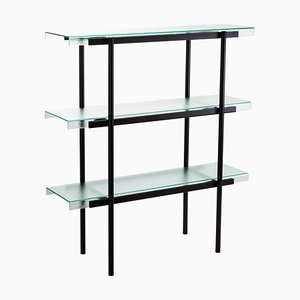 Passerelle 100 Shelf 9600S-03 in Glass & Black Steel by Sebastian Herkner for Pulpo