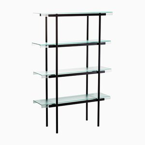 Passerelle 100 Shelf 9600S-04 in Glass & Black Steel by Sebastian Herkner for Pulpo