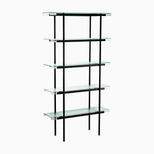Passerelle 100 Shelf 9600S-05 in Glass & Black Steel by Sebastian Herkner for Pulpo