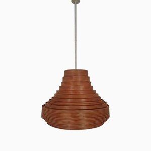 Lampada da soffitto Lamella in legno di Hans-Agne Jakobsson per Hans-Agne Jakobsson AB Markaryd, anni '60