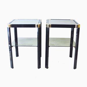 Tables d'Appoint Vintage par Romeo Rega, 1970s, Set de 2