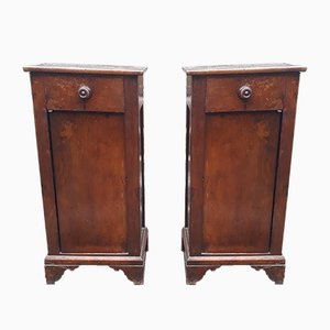 Antique Italian Walnut Chest of Drawers, Set of 2