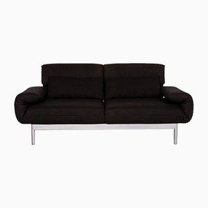 Schwarzes Plura 2-Sitz Relax Relax Sofa aus Stoff von Rolf Benz