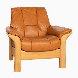 Cognac Brown Leather Kensington Armchair from Stressless