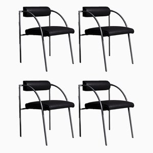 Chairs by Rodney Kinsman for Bieffeplast, 1980s, Set of 4