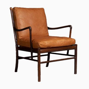 Chaise Colonial en Palissandre par Ole Wanscher pour Poul Jeppesens Møbelfabrik, 1940s