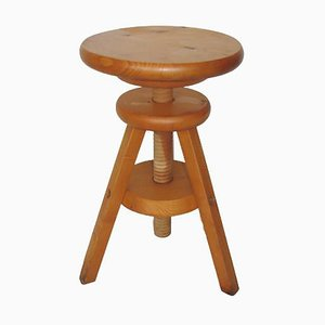 Wooden Stool, 1980s