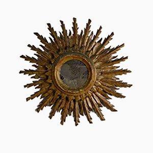 Italian Double Gilt Sunburst Mirror, 1940s