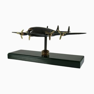 Mid-Century Brass Lockheed Constellation Aircraft Model from Reinhold Trümpelmann Kemnath
