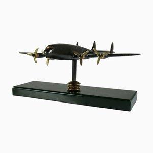 Modèle Avion Constellation Lockheed Mid-Century en Laiton de Reinhold Trümpelmann Kemnath