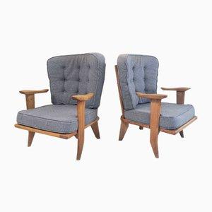 Club chair di Guillerme et Chambron per Votre Maison, Francia, anni '50, set di 2