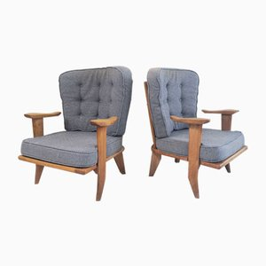 French Club Chairs by Guillerme et Chambron for Votre Maison, 1950s, Set of 2